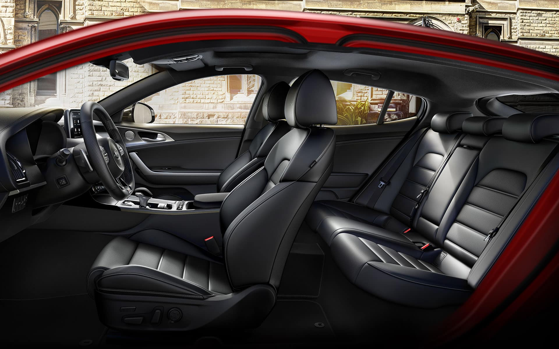 Kia Stinger comfort and spacious cabin